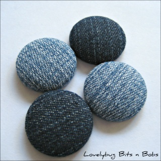 Lovelybug Bits n Bobs FABRIC BUTTONS! Denims10
