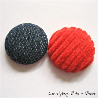Lovelybug Bits n Bobs FABRIC BUTTONS! Jeansc10