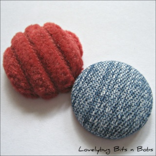 Lovelybug Bits n Bobs FABRIC BUTTONS! Jeansc11