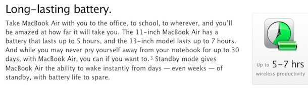 MacBook Air battery better than advertised Air310