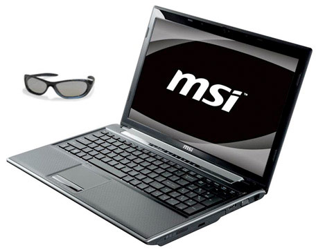 MSI releases 15.6-inch FR600 3D Laptop with 3D glasses Fr60010