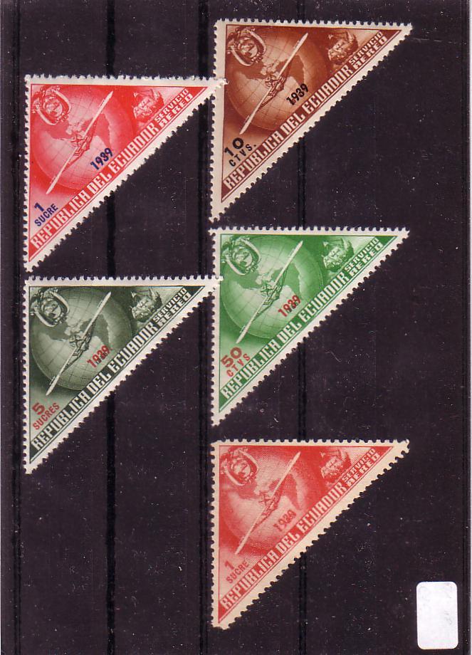 Ecuador dreieckige (Brief-?) Marken Ecuad112