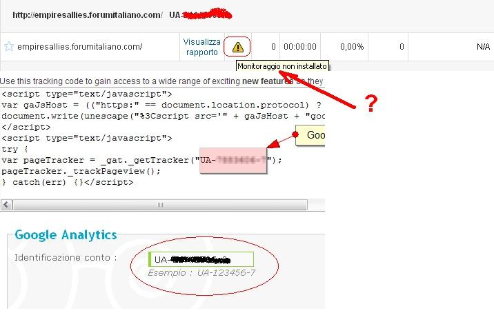 [Risolto] Google Analytics Non Installa il mio sito! Fcs_bm11