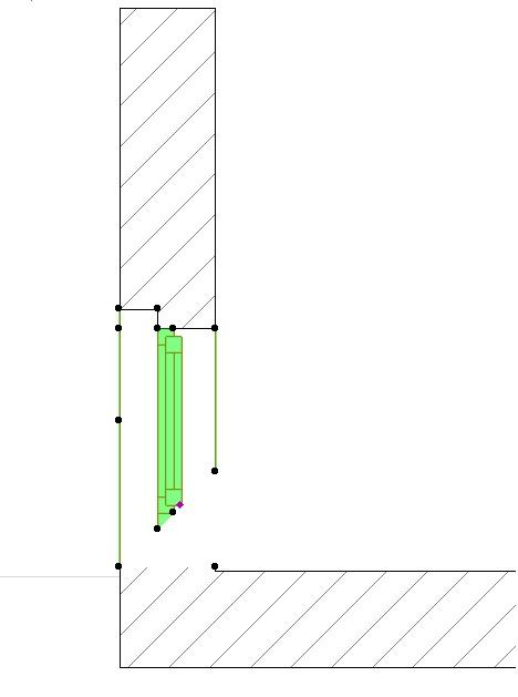 ¿Cómo se dibuja una ventana de esquina?. V310