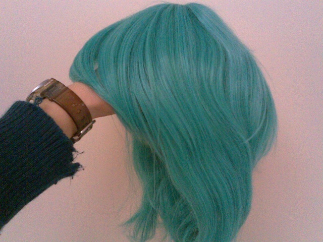 [seller] Hatsune Miku/Turqoise pigtail wig for sale!  16092010