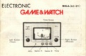 Les differentes notices de Game & Watch Ball_n11