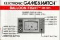 Les differentes notices de Game & Watch Balloo10