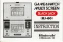 Les differentes notices de Game & Watch Blackj10