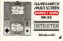 Les differentes notices de Game & Watch Donkey10