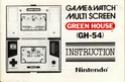 Les differentes notices de Game & Watch Greenh10