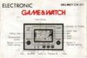 Les differentes notices de Game & Watch Helmet11