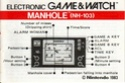 Les differentes notices de Game & Watch Manhol12