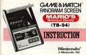 Les differentes notices de Game & Watch Marios10