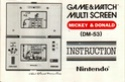 Les differentes notices de Game & Watch Mickey11