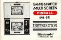 Les differentes notices de Game & Watch Pinbal10