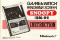 Les differentes notices de Game & Watch Snoopy11