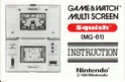 Les differentes notices de Game & Watch Squish10