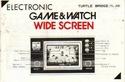 Les differentes notices de Game & Watch Turtle10