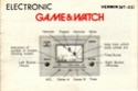 Les differentes notices de Game & Watch Vermin10
