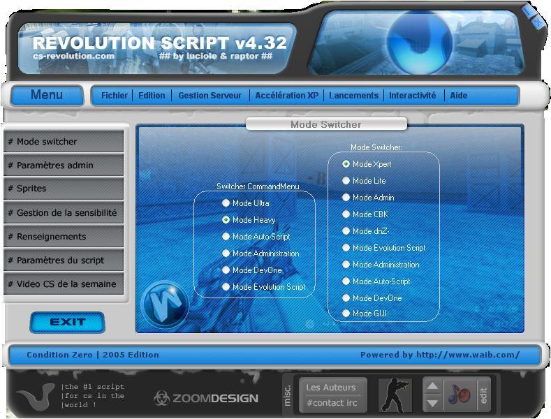 revolution script 4.32 cz