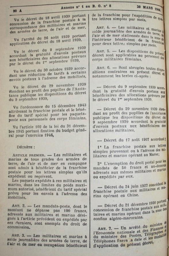 CP en FM de Majunga, 13 FEV 1946, par BCM... Pm210