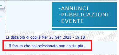 """Un forum è andato in """"tilt"""" per un'operazione errata da parte mia A402_410"""