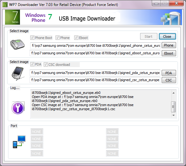 [TUTO]Flasher / Downgrader un spl inferieur à 4.X/Umbrander  son WP7 1er generation 00110