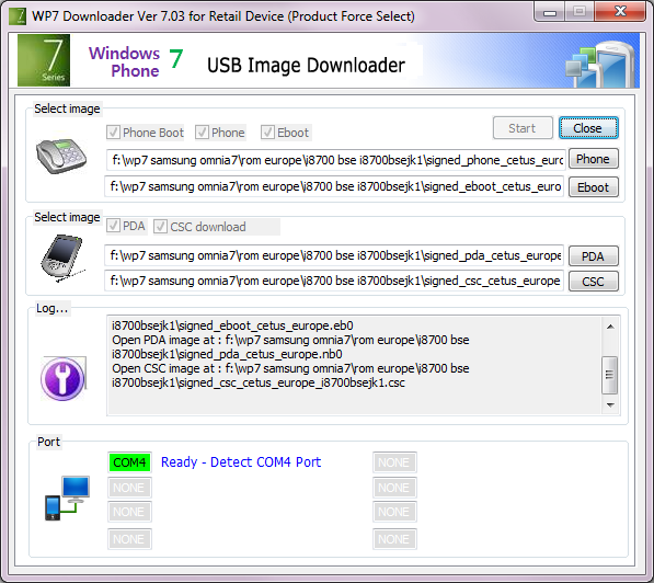 [TUTO]Flasher / Downgrader un spl inferieur à 4.X/Umbrander  son WP7 1er generation 00410