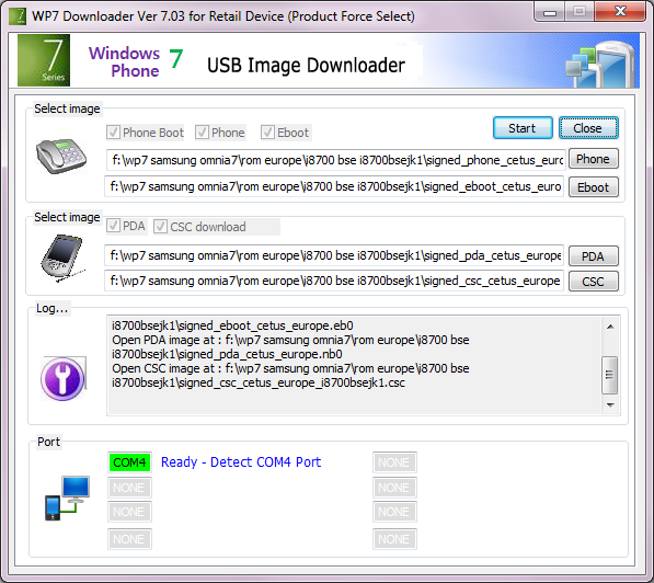 [TUTO]Flasher / Downgrader un spl inferieur à 4.X/Umbrander  son WP7 1er generation 00510