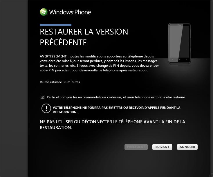 [TUTO] Faire une restauration après mise à jour sous Windows Phone 7 0410