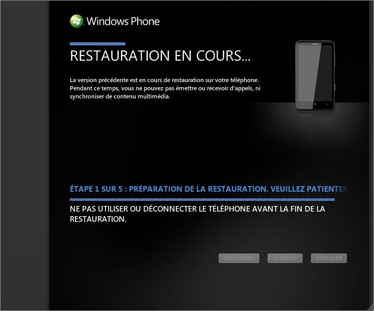 [TUTO] Faire une restauration après mise à jour sous Windows Phone 7 0510