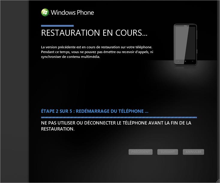 [TUTO] Faire une restauration après mise à jour sous Windows Phone 7 0610