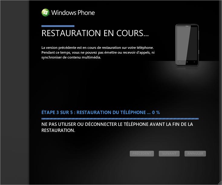 [TUTO] Faire une restauration après mise à jour sous Windows Phone 7 0710