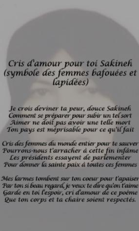 Iran : non à la lapidation de Sakineh Mohammadi Ashtiani Sakine10