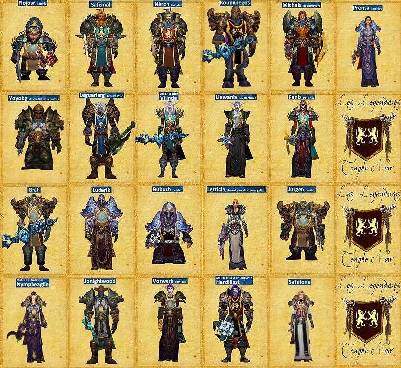 Les Legendaires du Temple Noir