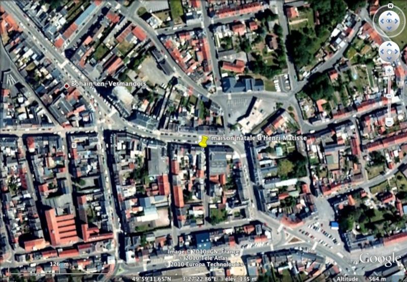 """Maisons natales des """"grandes figures"""" repérées dans Google Earth Matiss10"""