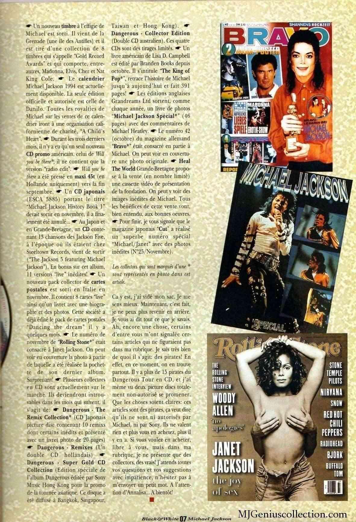 Les rubriques collectors de Black & White Magazine Bw8_an11