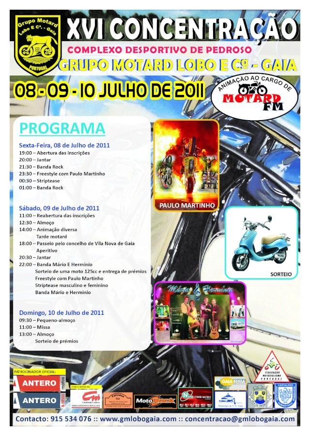 Concentração Grupo Motard Lobo e Cª 2011 Cartaz15