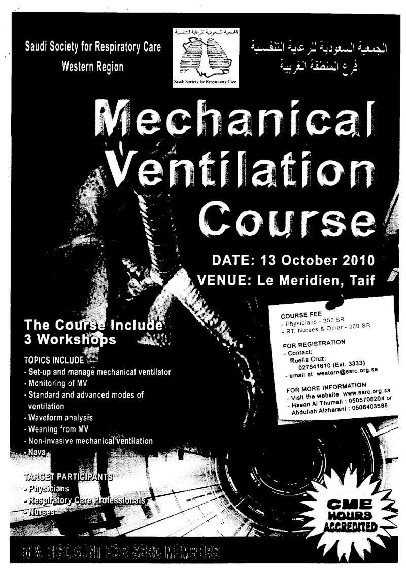 Mechanical Ventilation Course Mechan12