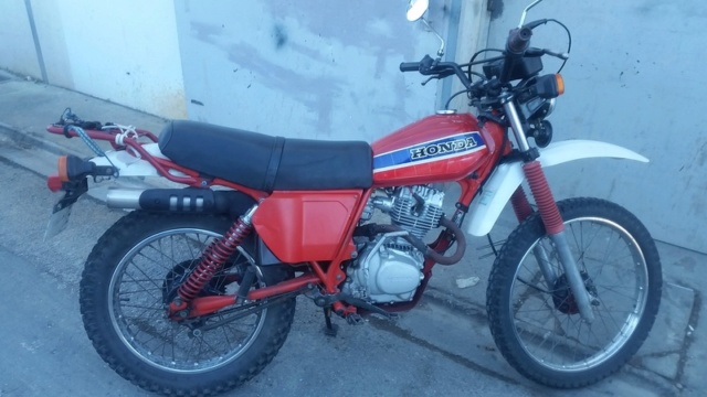 Evolution des :MONOCYLINDRES  HONDA 125  TRAIL Xls21110