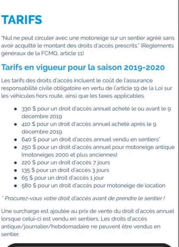 Tarifs 2019 2020 pour les sentiers 66496510