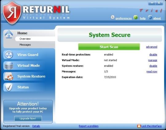 Returnil System Safe 2011 3.2.10303 15750a10