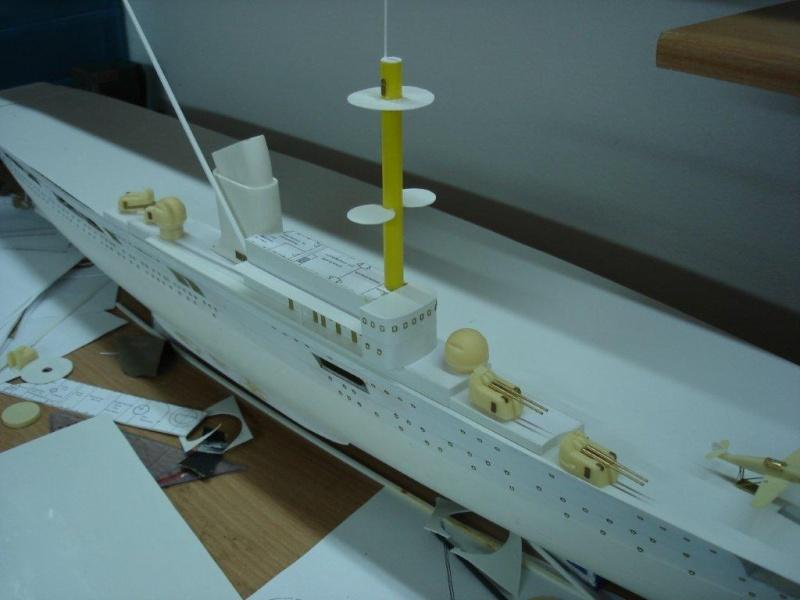 Umbau Seydlitz zum Flugzeugträger Weser Maßstab 1:200 Dsc01230
