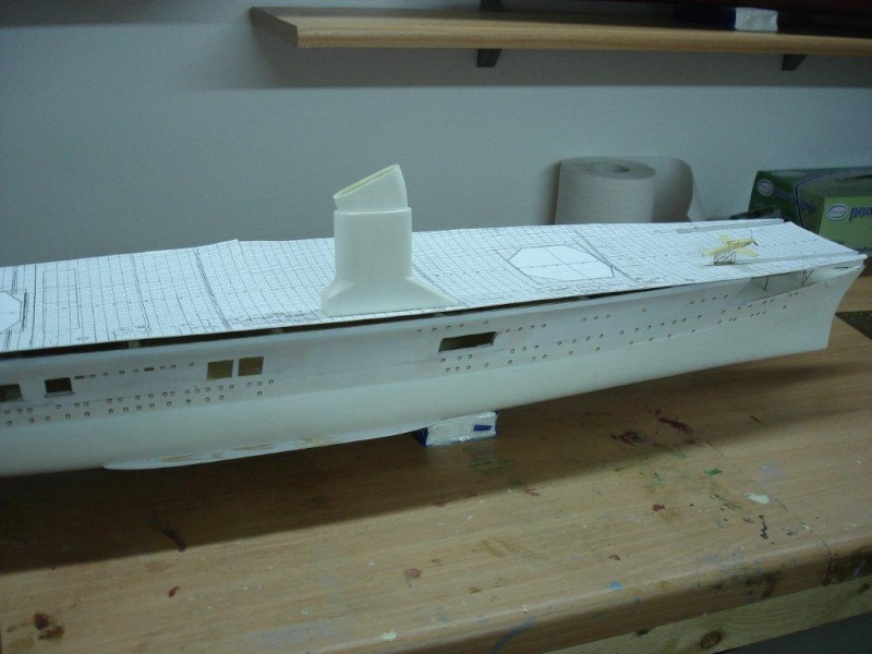 Umbau Seydlitz zum Flugzeugträger Weser Maßstab 1:200 H10