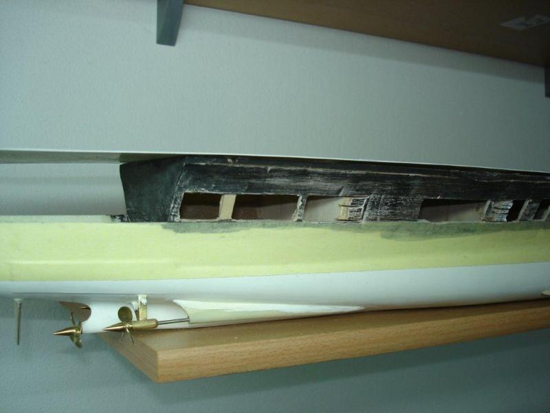 Umbau Seydlitz zum Flugzeugträger Weser Maßstab 1:200 W210