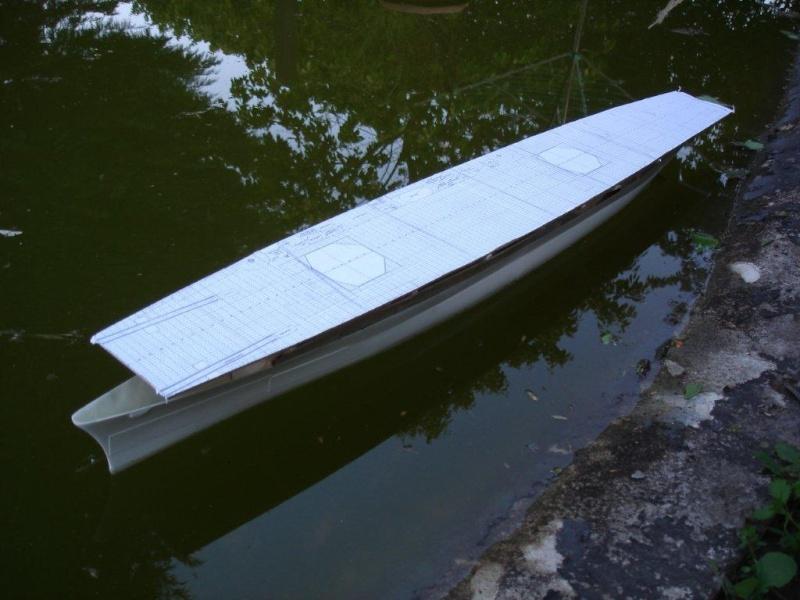 Umbau Seydlitz zum Flugzeugträger Weser Maßstab 1:200 We910