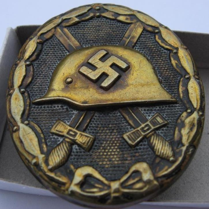 insigne blessés noir trophée de guerre 067p10