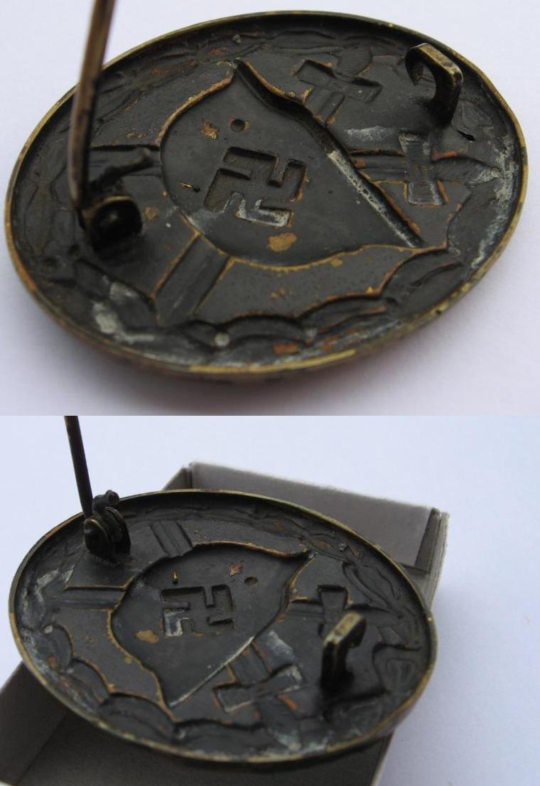 insigne blessés noir trophée de guerre 070p10