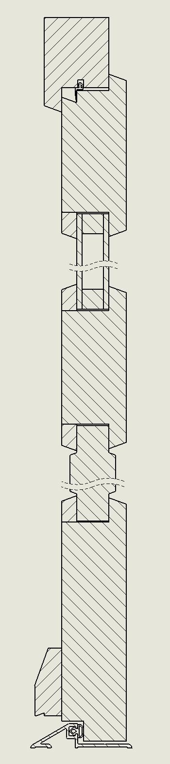 Porte fenetre 48mm Coupe_13