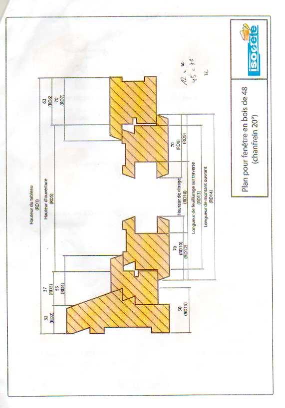 Porte fenetre 48mm Notice14